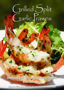 Grilled Split Garlic Prawns