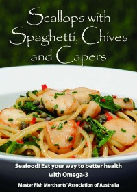 Scallops with Spaghetti, Chives and Capers