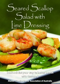 Seared Scallop Salad with Lime Dressing